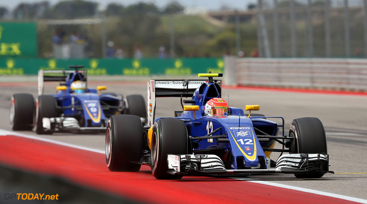United States GP Race 23/10/16 Felipe Nasr (BRA) Sauber F1 Team.  Circuit of the Americas.  United States GP Race 23/10/16 Jad Sherif                       Austin USA  F1 Formula 1 One 2016 American Action Nasr Sauber