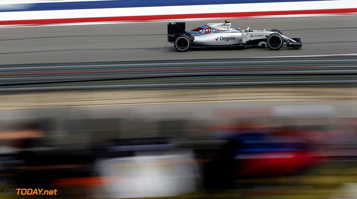 Circuit of the Americas, Austin Texas, USA. Sunday 23 October 2016. Valtteri Bottas, Williams FW38 Mercedes. Photo: Sam Bloxham/Williams ref: Digital Image _SLA2357      Action