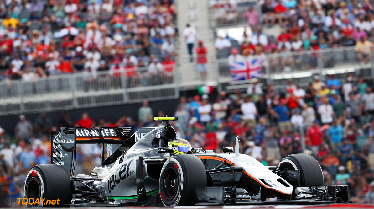 Formula One World Championship Sergio Perez (MEX) Sahara Force India F1 VJM09. United States Grand Prix, Sunday 23rd October 2016. Circuit of the Americas, Austin, Texas, USA. Motor Racing - Formula One World Championship - United States Grand Prix - Race Day - Austin, USA James Moy Photography Austin USA  Formula One Formula 1 F1 GP Grand Prix Circuit USA American United States of America COTA Circuit of the Americas Austin Texas TX JM643 Sergio P?rez Sergio P?rez Mendoza Checo Perez Checo P?rez Action Track GP1618d