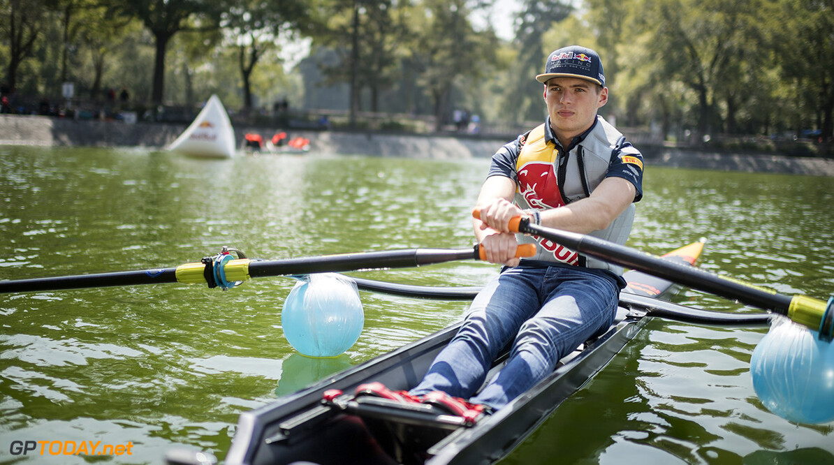 Max Verstappen at Lago Mayor de Chapultepec during a rowing session with Patrick Loliger in Mexico City on October 26th, 2016. // Cesar Durione / Red Bull Content Pool // P-20161027-00946 // Usage for editorial use only // Please go to www.redbullcontentpool.com for further information. //  Max Verstappen Marcos Ferro Mexico City Mexico  P-20161027-00946