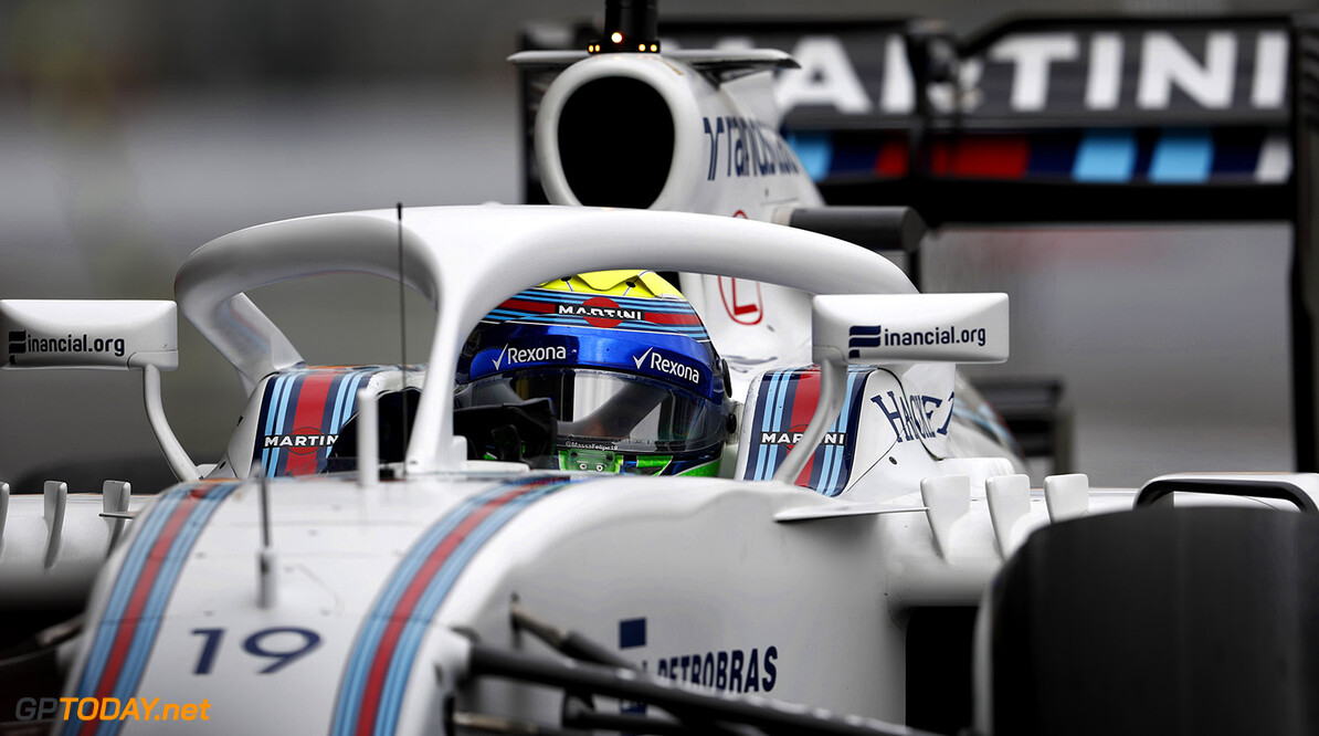 Autodromo Hermanos Rodriguez, Mexico City, Mexico. Friday 28 October 2016. Felipe Massa, Williams FW38 Mercedes, with a Halo device fitted to his car for evaluation. Photo: Glenn Dunbar/Williams ref: Digital Image _X4I5027  Glenn Dunbar    Action