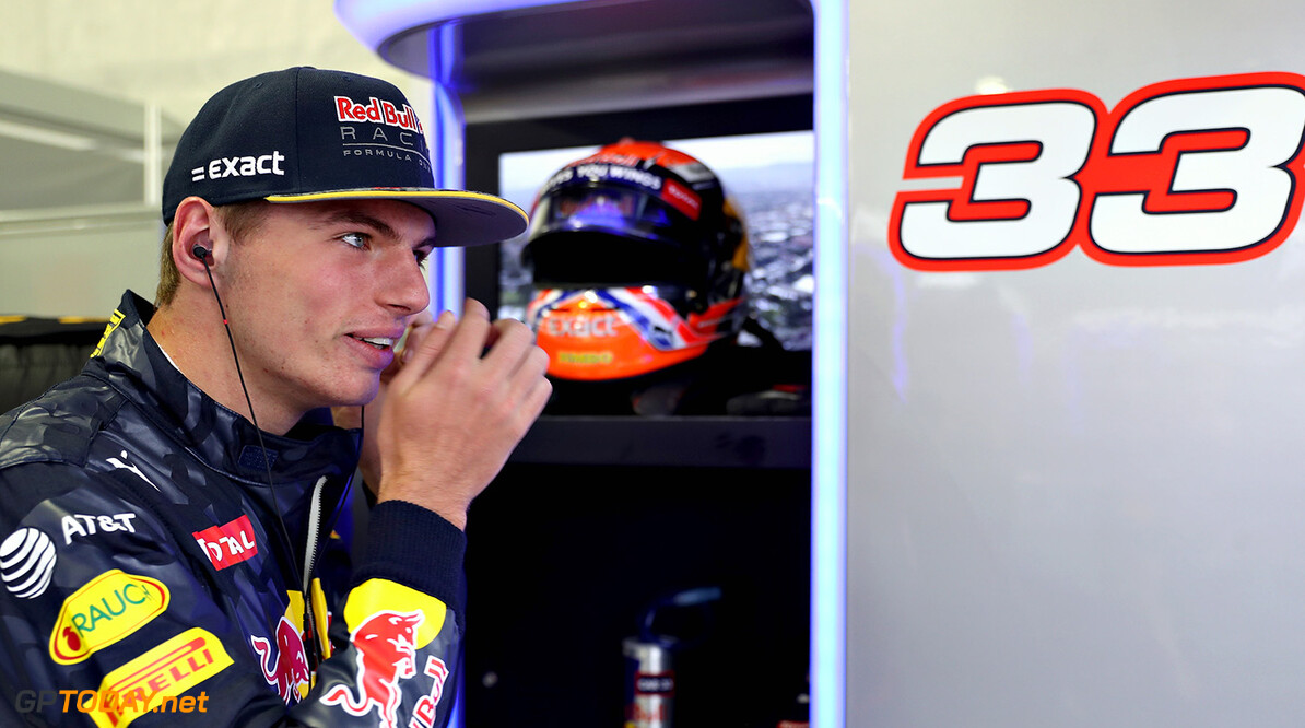 MEXICO CITY, MEXICO - OCTOBER 28:  Max Verstappen of Netherlands and Red Bull Racing gets ready in the garage during practice for the Formula One Grand Prix of Mexico at Autodromo Hermanos Rodriguez on October 28, 2016 in Mexico City, Mexico.  (Photo by Mark Thompson/Getty Images) // Getty Images / Red Bull Content Pool  // P-20161028-01022 // Usage for editorial use only // Please go to www.redbullcontentpool.com for further information. //  F1 Grand Prix of Mexico - Practice Mark Thompson    P-20161028-01022