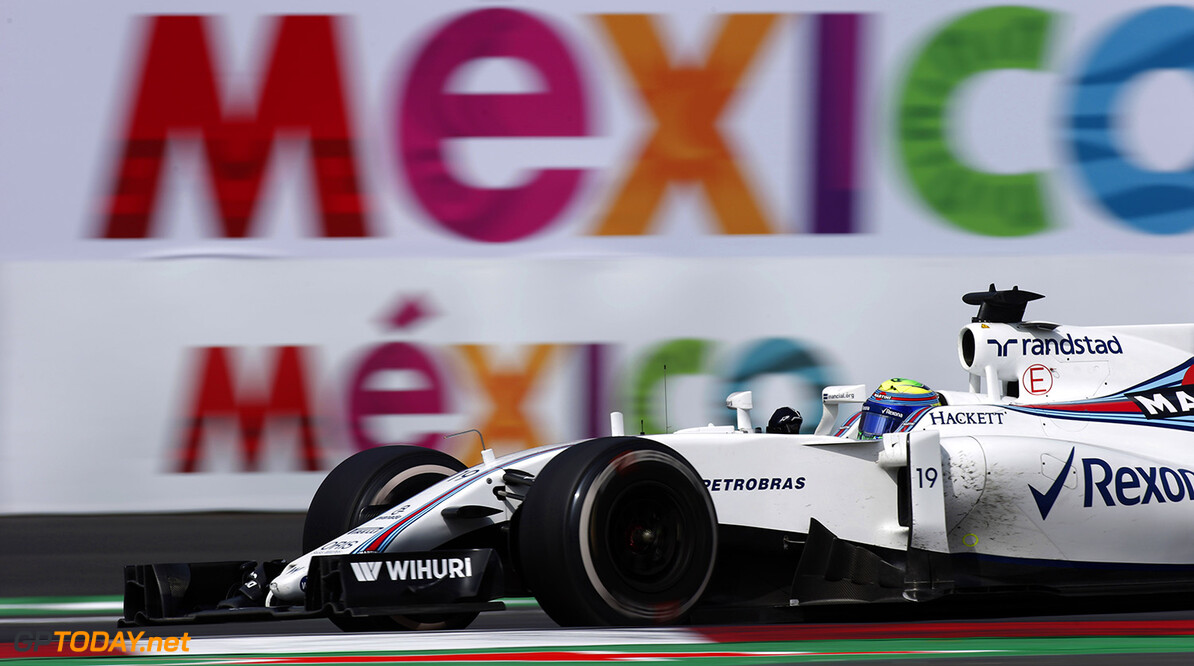 Autodromo Hermanos Rodriguez, Mexico City, Mexico. Sunday 30 October 2016. Felipe Massa, Williams FW38 Mercedes. Photo: Sam Bloxham/Williams ref: Digital Image _SLA5399  Steven Tee    Action