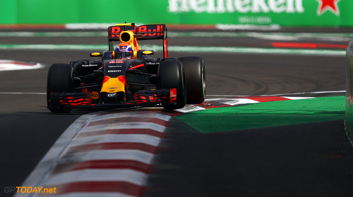 MEXICO CITY, MEXICO - OCTOBER 30:  Max Verstappen of the Netherlands driving the (33) Red Bull Racing Red Bull-TAG Heuer RB12 TAG Heuer on track during the Formula One Grand Prix of Mexico at Autodromo Hermanos Rodriguez on October 30, 2016 in Mexico City, Mexico.  (Photo by Clive Mason/Getty Images) // Getty Images / Red Bull Content Pool  // P-20161030-00727 // Usage for editorial use only // Please go to www.redbullcontentpool.com for further information. //  F1 Grand Prix of Mexico Clive Mason    P-20161030-00727