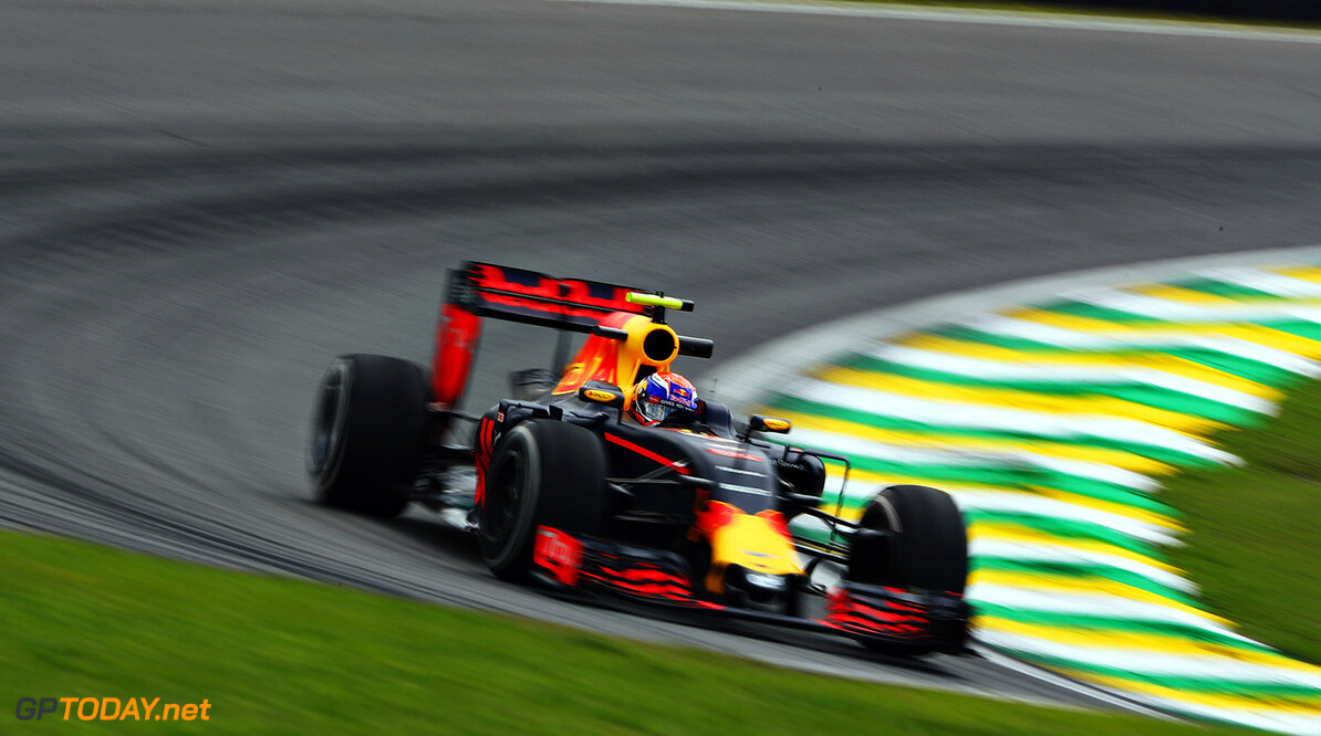 SAO PAULO, BRAZIL - NOVEMBER 11:  Max Verstappen of the Netherlands driving the (33) Red Bull Racing Red Bull-TAG Heuer RB12 TAG Heuer on track during practice for the Formula One Grand Prix of Brazil at Autodromo Jose Carlos Pace on November 11, 2016 in Sao Paulo, Brazil.  (Photo by Clive Mason/Getty Images) // Getty Images / Red Bull Content Pool  // P-20161111-01760 // Usage for editorial use only // Please go to www.redbullcontentpool.com for further information. //  F1 Grand Prix of Brazil - Practice Clive Mason Sao Paulo Brazil  P-20161111-01760