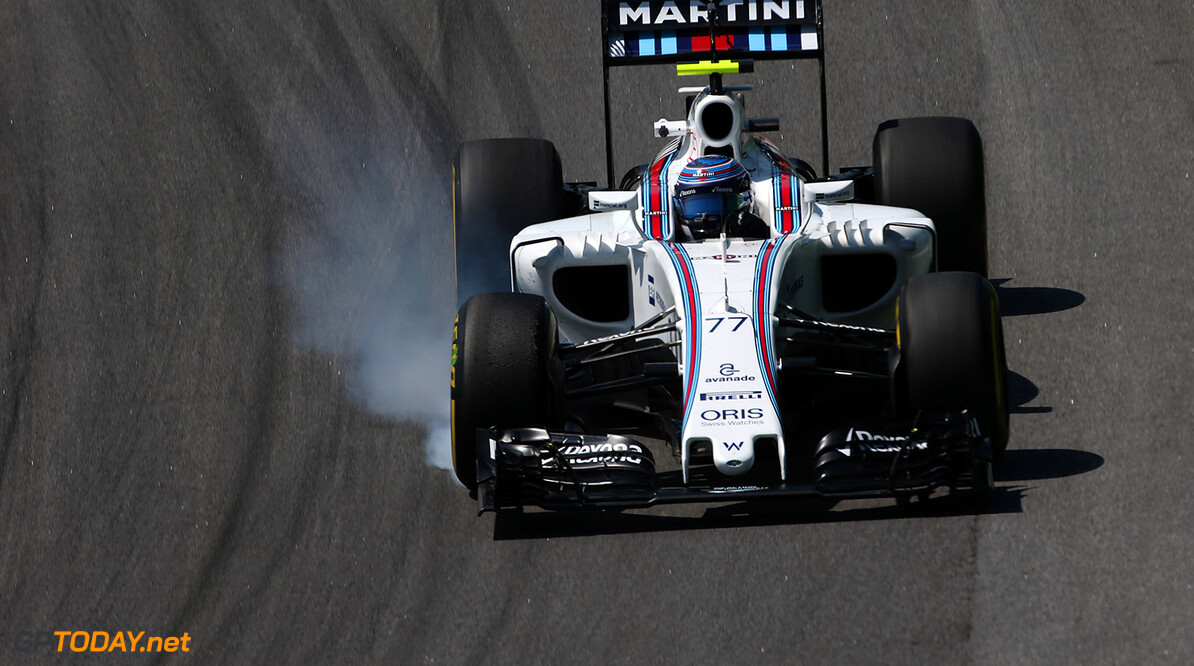 Interlagos, Sao Paulo, Brazil. Friday 11 November 2016. Valtteri Bottas, Williams FW38 Mercedes. Photo: Charles Coates/Williams ref: Digital Image AN7T0750      Action