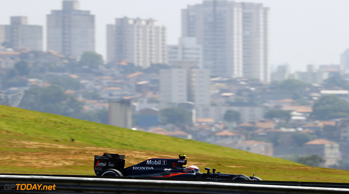 Jenson Button on track.  Steven Tee