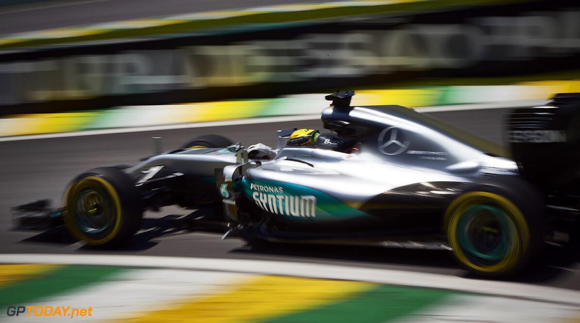Lewis Hamilton narrowly takes pole in Brazil