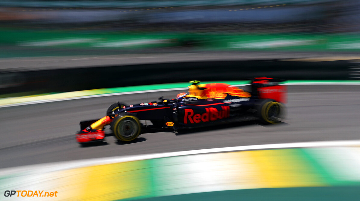 SAO PAULO, BRAZIL - NOVEMBER 11:  Max Verstappen of the Netherlands driving the (33) Red Bull Racing Red Bull-TAG Heuer RB12 TAG Heuer on track during practice for the Formula One Grand Prix of Brazil at Autodromo Jose Carlos Pace on November 11, 2016 in Sao Paulo, Brazil.  (Photo by Mark Thompson/Getty Images) // Getty Images / Red Bull Content Pool  // P-20161111-00983 // Usage for editorial use only // Please go to www.redbullcontentpool.com for further information. //  F1 Grand Prix of Brazil - Practice Mark Thompson Sao Paulo Brazil  P-20161111-00983