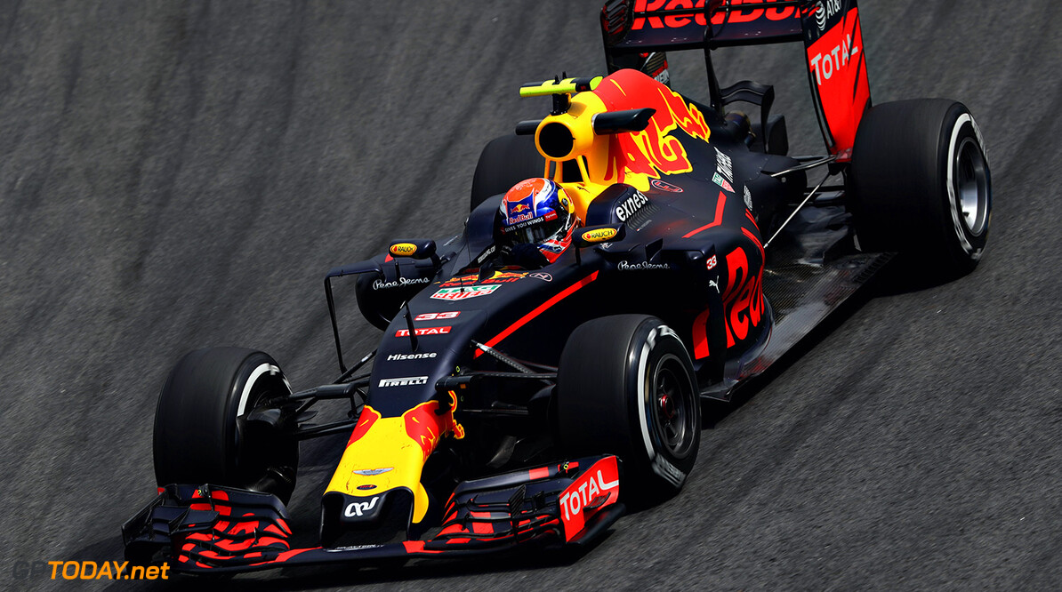 SAO PAULO, BRAZIL - NOVEMBER 11:  Max Verstappen of the Netherlands driving the (33) Red Bull Racing Red Bull-TAG Heuer RB12 TAG Heuer on track during practice for the Formula One Grand Prix of Brazil at Autodromo Jose Carlos Pace on November 11, 2016 in Sao Paulo, Brazil.  (Photo by Mark Thompson/Getty Images) // Getty Images / Red Bull Content Pool  // P-20161111-01402 // Usage for editorial use only // Please go to www.redbullcontentpool.com for further information. //  F1 Grand Prix of Brazil - Practice Mark Thompson Sao Paulo Brazil  P-20161111-01402
