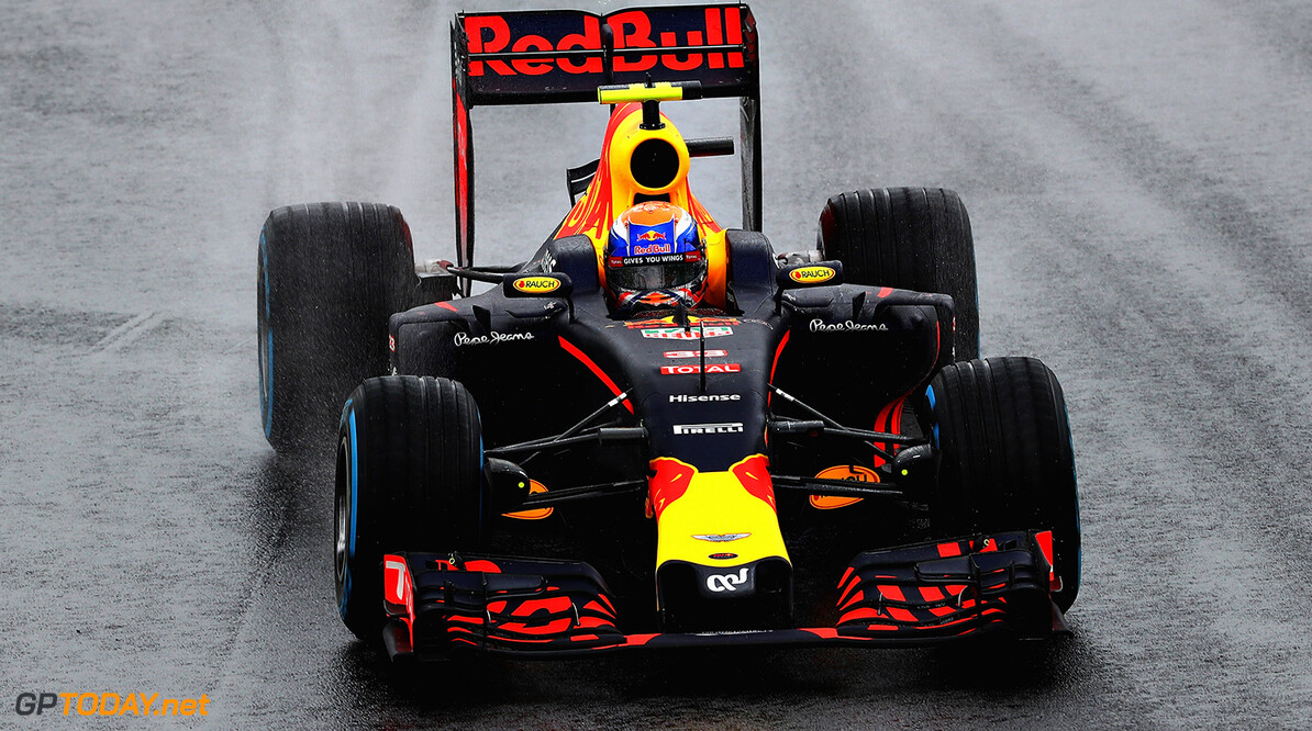 SAO PAULO, BRAZIL - NOVEMBER 13:  Max Verstappen of the Netherlands driving the (33) Red Bull Racing Red Bull-TAG Heuer RB12 TAG Heuer on track during the Formula One Grand Prix of Brazil at Autodromo Jose Carlos Pace on November 13, 2016 in Sao Paulo, Brazil.  (Photo by Clive Mason/Getty Images) // Getty Images / Red Bull Content Pool  // P-20161113-00887 // Usage for editorial use only // Please go to www.redbullcontentpool.com for further information. //  F1 Grand Prix of Brazil Clive Mason Sao Paulo Brazil  P-20161113-00887