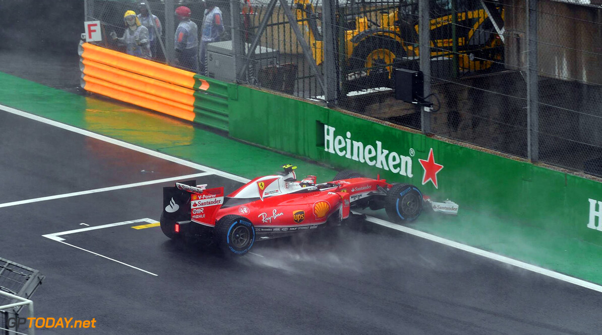 "Kimi Raikkonen: ""I aquaplaned and couldn't do anything"""