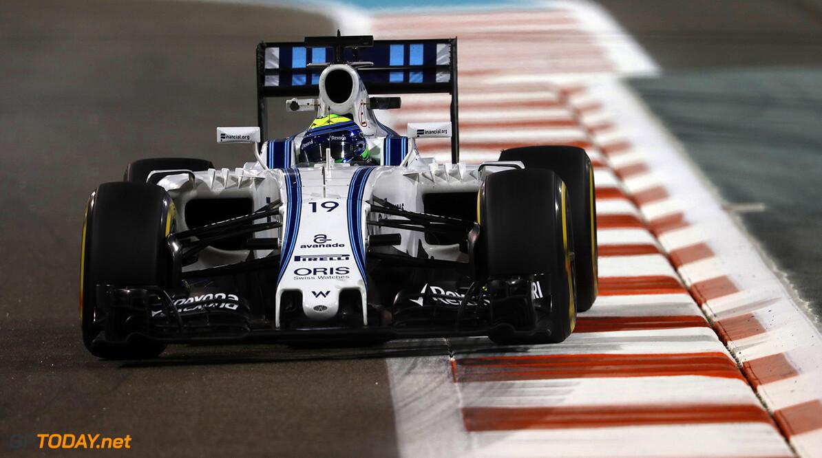 Yas Marina Circuit, Abu Dhabi, United Arab Emirates. Friday 25 November 2016. Felipe Massa, Williams FW38 Mercedes. Photo: Glenn Dunbar/Williams ref: Digital Image _X4I2214  Glenn Dunbar    Action