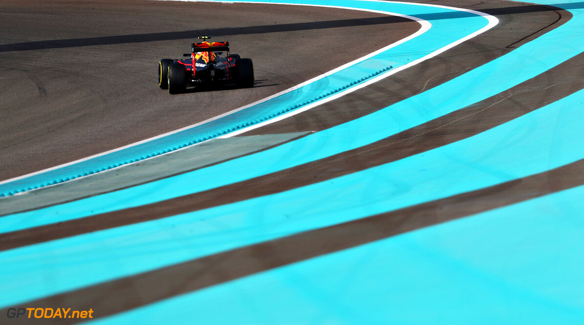 ABU DHABI, UNITED ARAB EMIRATES - NOVEMBER 25: Max Verstappen of the Netherlands driving the (33) Red Bull Racing Red Bull-TAG Heuer RB12 TAG Heuer on track  during practice for the Abu Dhabi Formula One Grand Prix at Yas Marina Circuit on November 25, 2016 in Abu Dhabi, United Arab Emirates.  (Photo by Mark Thompson/Getty Images) // Getty Images / Red Bull Content Pool  // P-20161125-00780 // Usage for editorial use only // Please go to www.redbullcontentpool.com for further information. //  F1 Grand Prix of Abu Dhabi - Practice Mark Thompson Abu Dhabi United Arab Emirates  P-20161125-00780