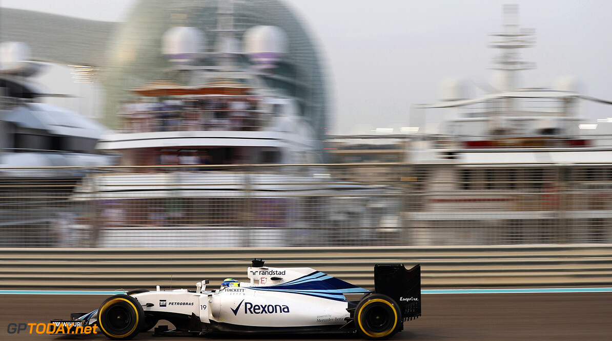 Yas Marina Circuit, Abu Dhabi, United Arab Emirates. Friday 25 November 2016. Felipe Massa, Williams FW38 Mercedes. Photo: Glenn Dunbar/Williams ref: Digital Image _31I5502  Glenn Dunbar    Action