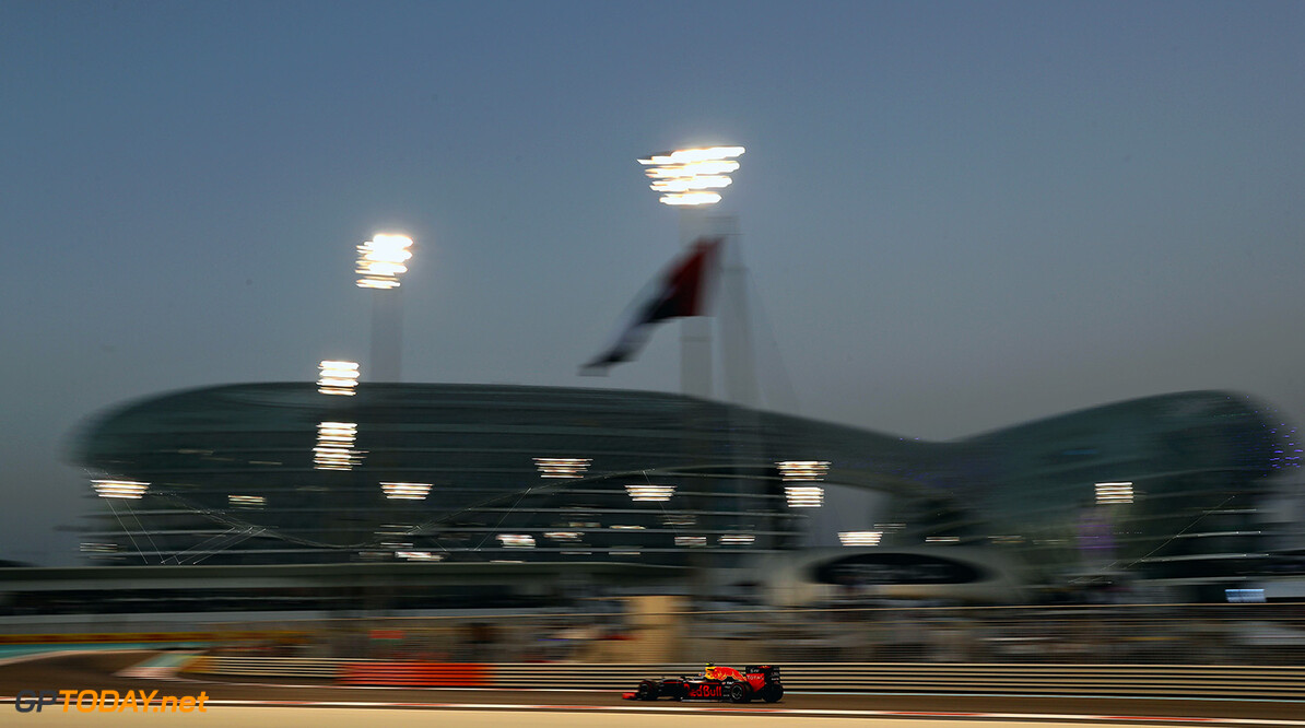 ABU DHABI, UNITED ARAB EMIRATES - NOVEMBER 27: Max Verstappen of the Netherlands driving the (33) Red Bull Racing Red Bull-TAG Heuer RB12 TAG Heuer on track  during the Abu Dhabi Formula One Grand Prix at Yas Marina Circuit on November 27, 2016 in Abu Dhabi, United Arab Emirates.  (Photo by Mark Thompson/Getty Images) // Getty Images / Red Bull Content Pool  // P-20161127-00271 // Usage for editorial use only // Please go to www.redbullcontentpool.com for further information. //  F1 Grand Prix of Abu Dhabi Mark Thompson Abu Dhabi United Arab Emirates  P-20161127-00271