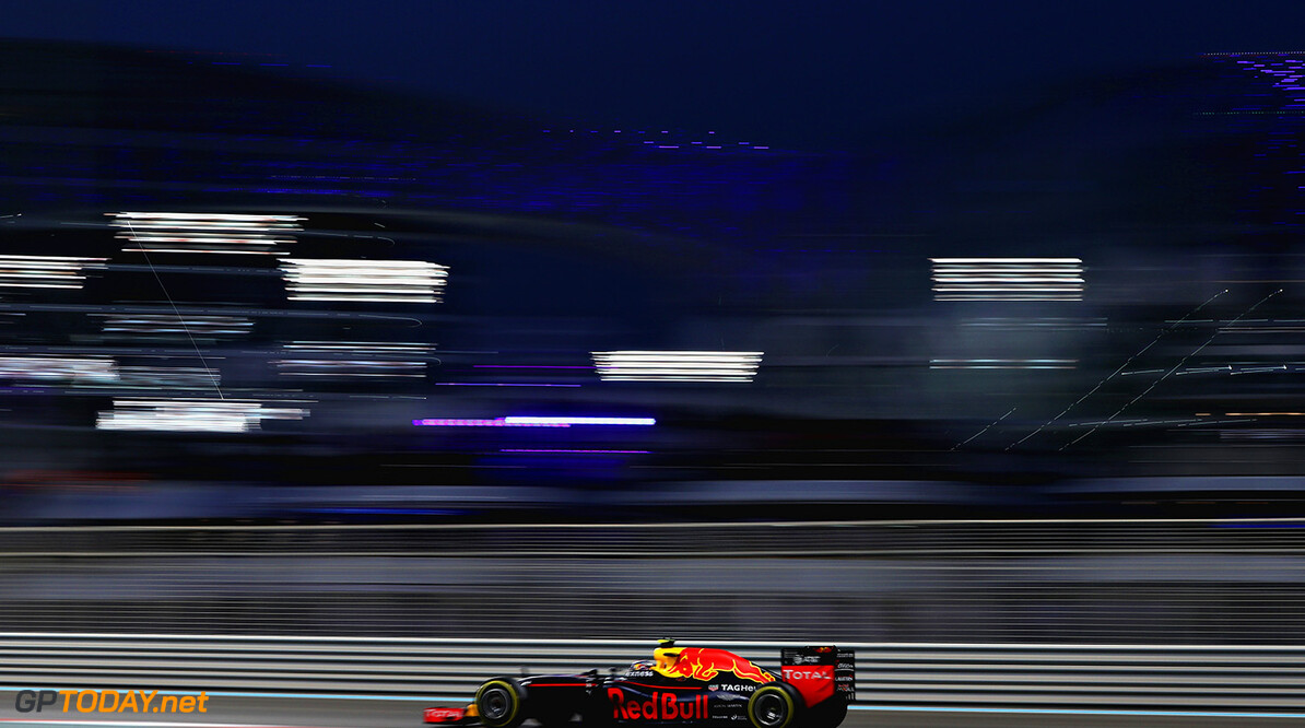 ABU DHABI, UNITED ARAB EMIRATES - NOVEMBER 27: Max Verstappen of the Netherlands driving the (33) Red Bull Racing Red Bull-TAG Heuer RB12 TAG Heuer on track  during the Abu Dhabi Formula One Grand Prix at Yas Marina Circuit on November 27, 2016 in Abu Dhabi, United Arab Emirates.  (Photo by Mark Thompson/Getty Images) // Getty Images / Red Bull Content Pool  // P-20161127-00301 // Usage for editorial use only // Please go to www.redbullcontentpool.com for further information. //  F1 Grand Prix of Abu Dhabi Mark Thompson Abu Dhabi United Arab Emirates  P-20161127-00301