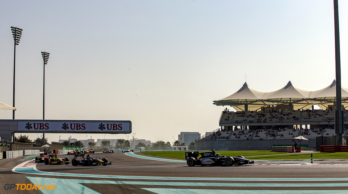 2016 GP2 Series Round 11. Yas Marina Circuit, Abu Dhabi, United Arab Emirates. Sunday 27 November 2016. Raffaele Marciello (ITA, RUSSIAN TIME)  Photo: Zak Mauger/GP2 Series Media Service. ref: Digital Image _L0U1562   Zak Mauger    Race Two 2 Sprint action