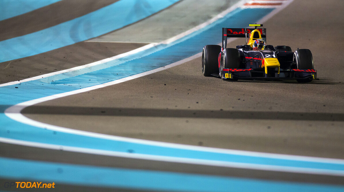 2016 GP2 Series Round 11. Yas Marina Circuit, Abu Dhabi, United Arab Emirates. Saturday 26 November 2016. Pierre Gasly (FRA, PREMA Racing)  Photo: Sam Bloxham/GP2 Series Media Service. ref: Digital Image _SLA8526  Sam Bloxham    Race One feature action