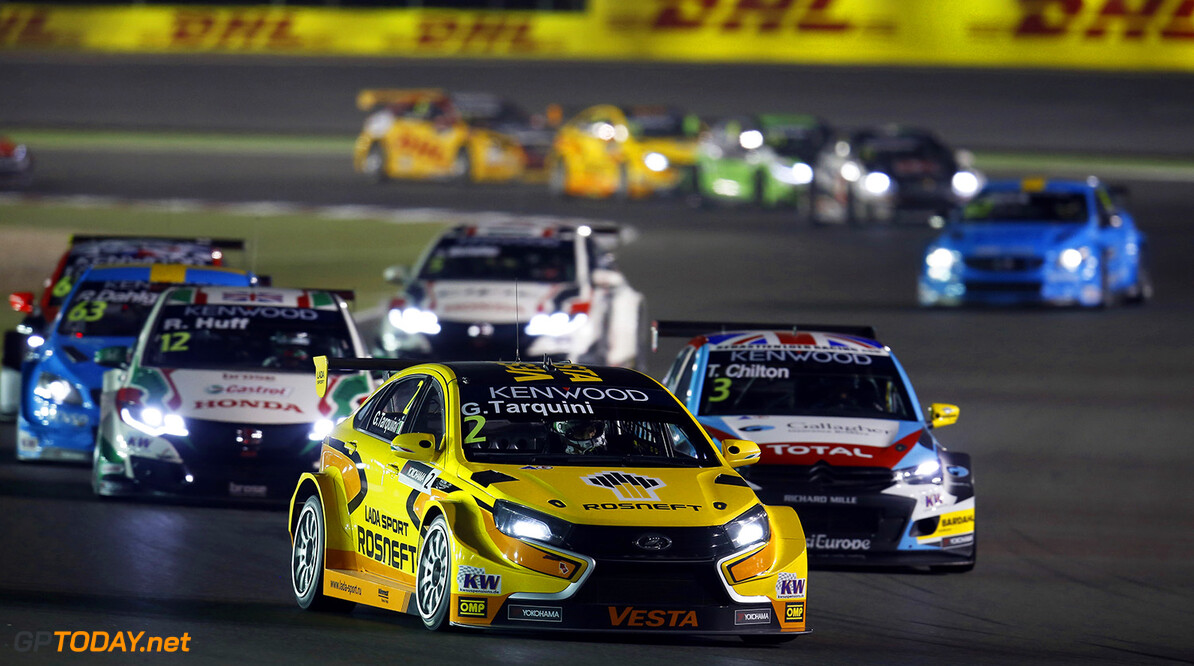02 TARQUINI Gabriele (ita) Lada Vesta team Lada Sport Rosneft action during the 2016 FIA WTCC World Touring Car Championship race at Losail  from November 23 to 25 Qatar - Photo Clement Marin / DPPI AUTO - WTCC LOSAIL 2016 Clement Marin Losail Qatar  Auto Championnat Du Monde Losail International Circuit Circuit Course Fia Motorsport November Novembre Quatar Tourisme Wtcc
