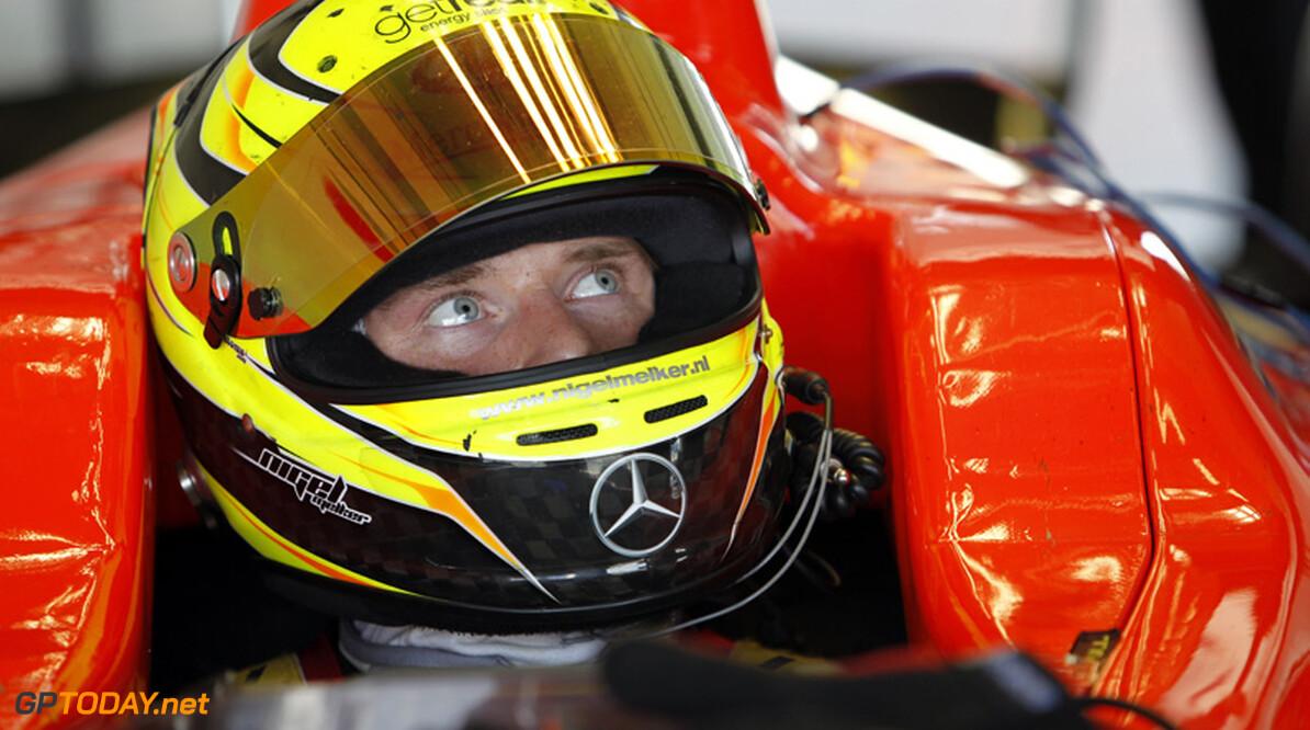 Nigel Melker voor iSport International in actie bij test in Barcelona