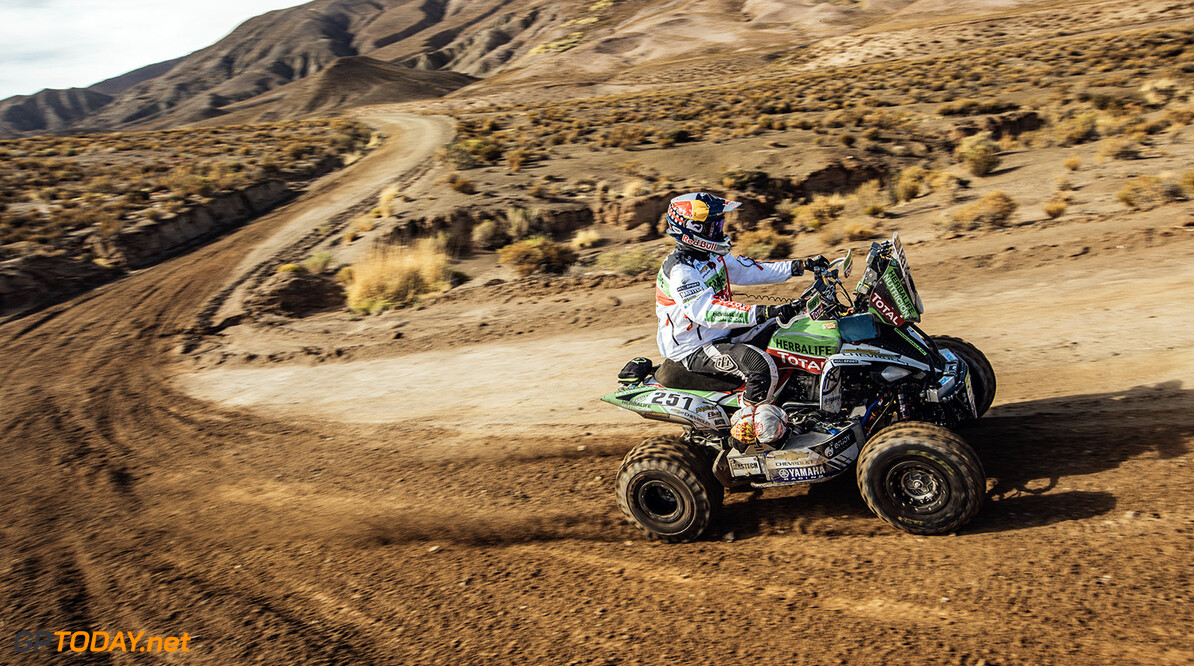 Ignacio Casale (CHL) of Casale Motorsport races during stage 4 of Rally Dakar 2017 from San Salvador de Jujuy, Argentina to Tupiza, Bolivia on January 5, 2017. // Flavien Duhamel/Red Bull Content Pool // P-20170105-01466 // Usage for editorial use only // Please go to www.redbullcontentpool.com for further information. //  Ignacio Casale Flavien Duhamel  Tupiza Bolivia  P-20170105-01466