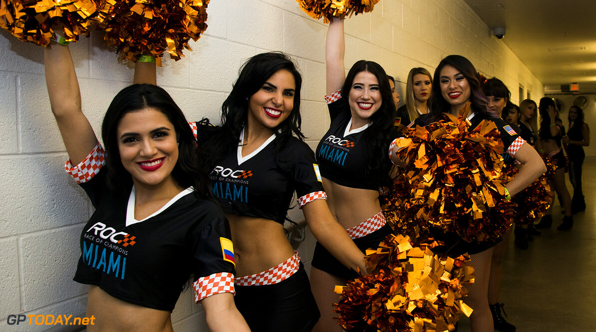 2017 Race of Champions, Marlins Park, Miami, USA Cheerleaders during the Race of Champions on Saturday 21 January 2017 at Marlins Park, Miami, Florida, USA