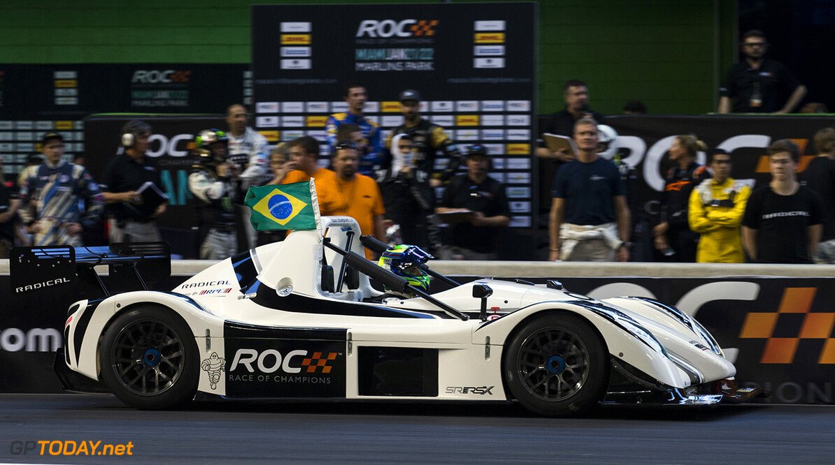 2017 Race of Champions, Marlins Park, Miami, USA Felipe Massa (BRA) driving the Radical SR3 RSX on track during the Race of Champions on Saturday 21 January 2017 at Marlins Park, Miami, Florida, USA      action