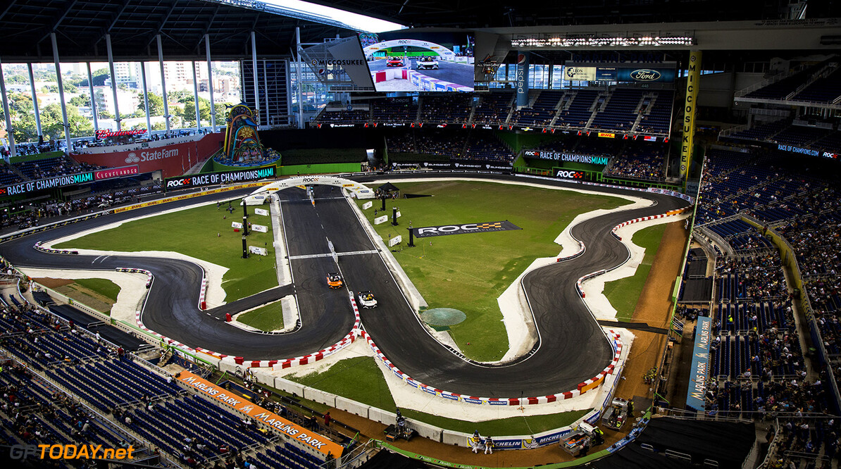 2017 Race of Champions, Marlins Park, Miami, USA Jenson Button (GBR) Race of Champions on Saturday 21 January 2017 at Marlins Park, Miami, Florida, USA      action