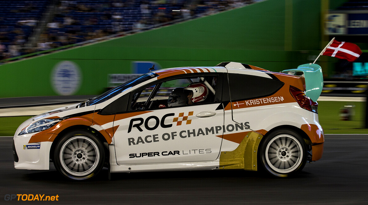 2017 Race of Champions, Marlins Park, Miami, USA Tom Kristensen (DNK) driving the RX Supercar Lite during the Race of Champions on Saturday 21 January 2017 at Marlins Park, Miami, Florida, USA      action