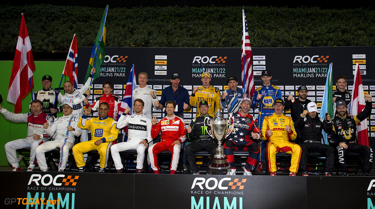2017 Race of Champions, Marlins Park, Miami, USA The drivers family photo during the ROC Nations Cup on Sunday 22 January 2017 at Marlins Park, Miami, Florida, USA      portrait