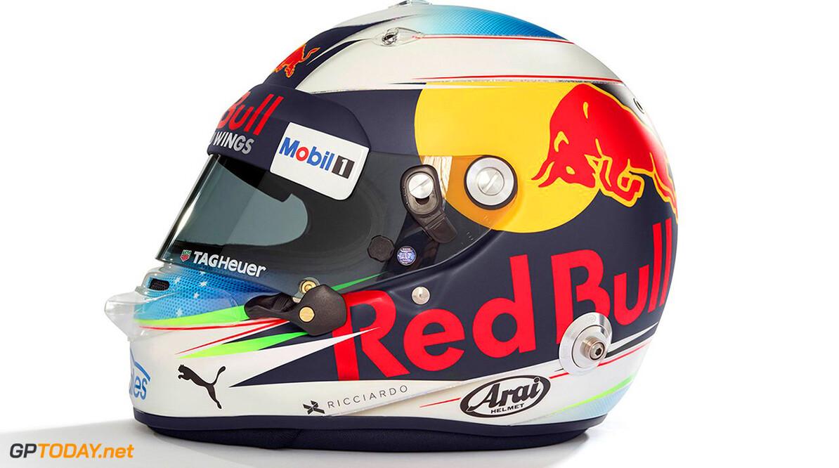Daniel Ricciardo showt zijn helmdesign voor 2017