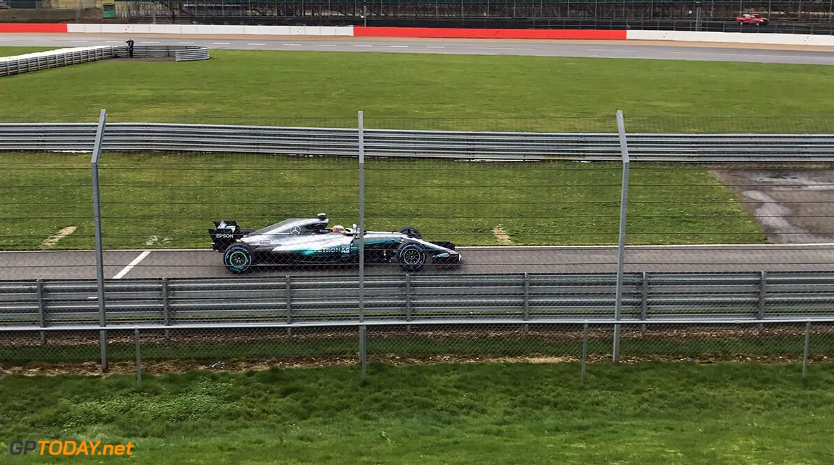 Eerste foto van de Mercedes W08 op Silverstone