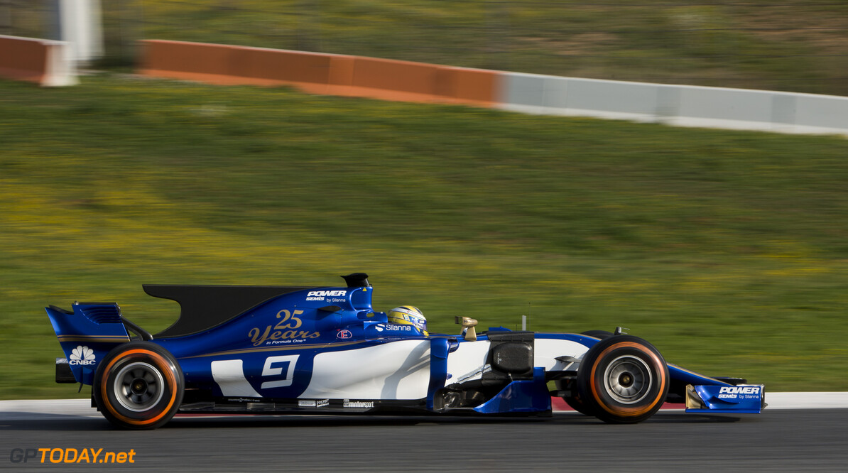 170227RF32968 Barcelona, Spain - 27 February 2017: #9 Marcus Ericsson (SWE), Sauber F1 Team, during Formula 1 Pre-Season Testing 2017 at Circuit de Barcelona-Catalunya, Barcelona, Spain. Formula 1 Pre-Season Testing 2017 Ronald Fleurbaaij Barcelona Spain  Barcelona Spain Formula 1 Pre-Season Testing 2017 Circuit de Barcelona-Catalunya Sports