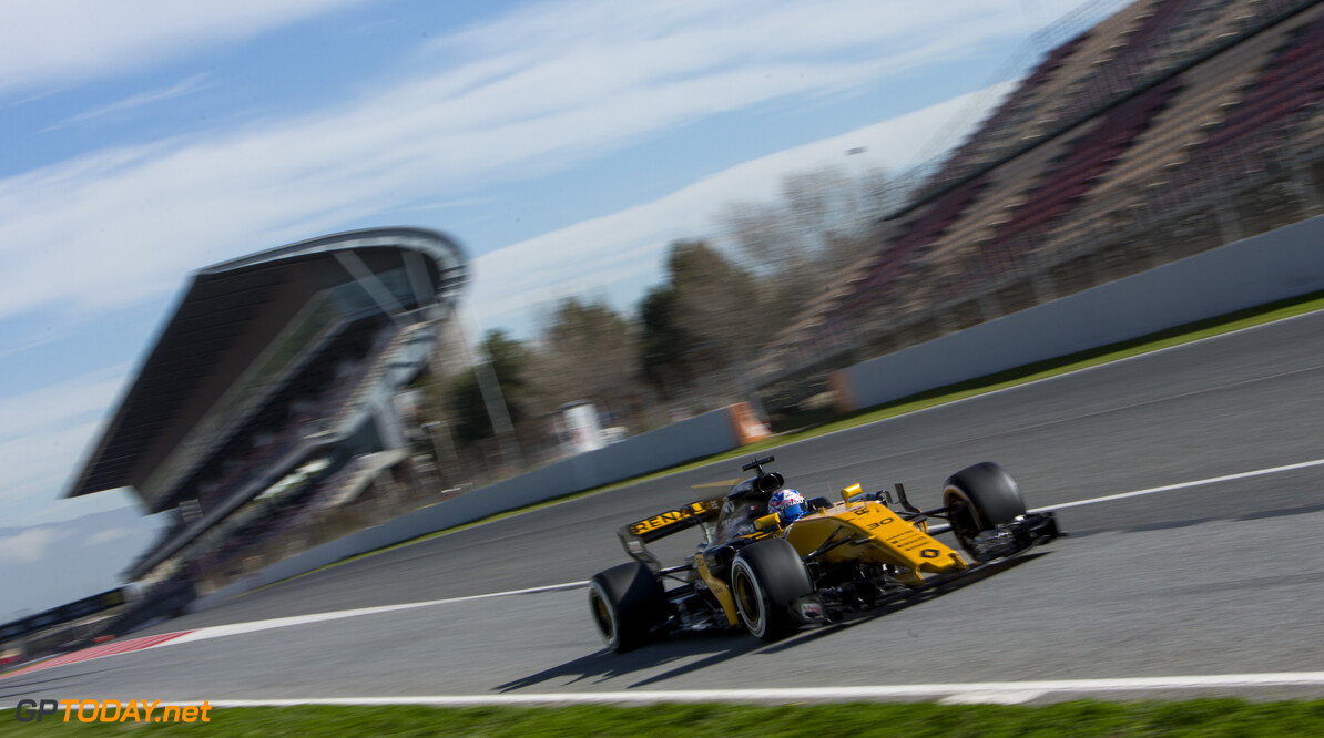 170301RF33665 Barcelona, Spain - 01 March 2017: #30 Jolyon Palmer (GBR), Renault Sport Formula One Team, during Formula 1 Pre-Season Testing 2017 at Circuit de Barcelona-Catalunya, Barcelona, Spain. Formula 1 Pre-Season Testing 2017 Ronald Fleurbaaij Barcelona Spain  Barcelona Spain Formula 1 Pre-Season Testing 2017 Circuit de Barcelona-Catalunya Sports
