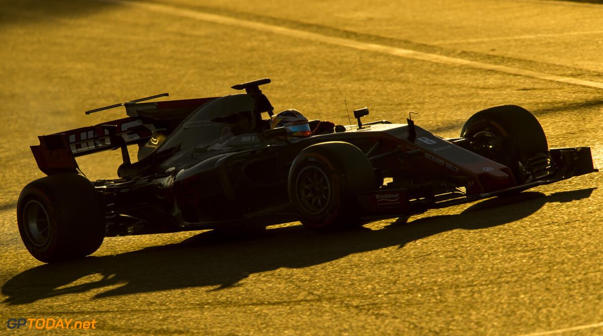 170301RF25198 Barcelona, Spain - 01 March 2017: #8 Romain Grosjean (FRA), Haas F1 Team, during Formula 1 Pre-Season Testing 2017 at Circuit de Barcelona-Catalunya, Barcelona, Spain. Formula 1 Pre-Season Testing 2017 Ronald Fleurbaaij Barcelona Spain  Barcelona Spain Formula 1 Pre-Season Testing 2017 Circuit de Barcelona-Catalunya Sports
