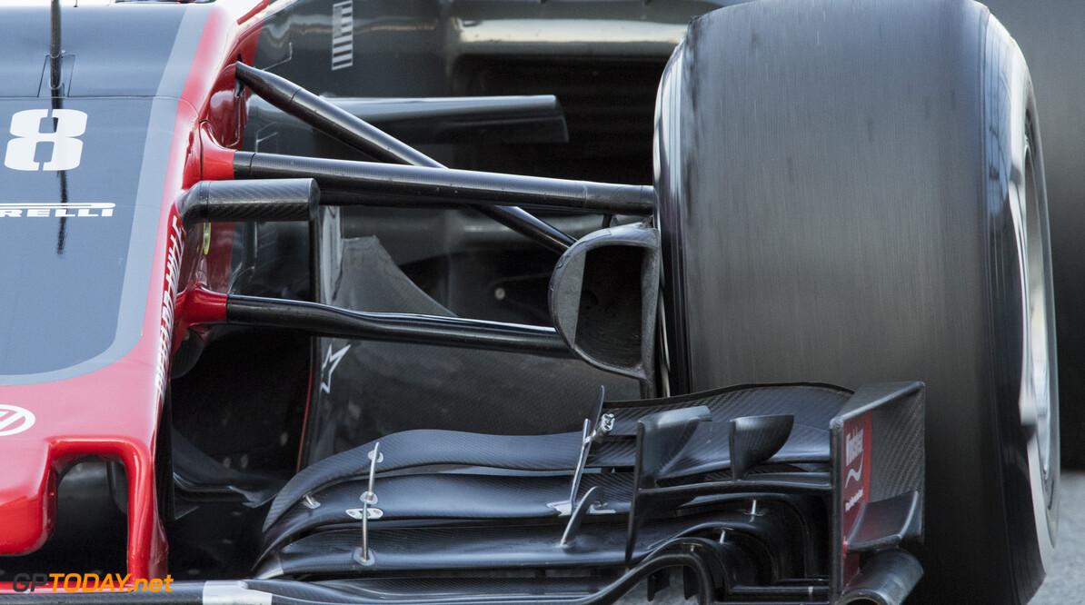 170302RF26280 Barcelona, Spain - 02 March 2017: Haas F1 Team during Formula 1 Pre-Season Testing 2017 at Circuit de Barcelona-Catalunya, Barcelona, Spain. Formula 1 Pre-Season Testing 2017 Ronald Fleurbaaij Barcelona Spain  Barcelona Spain Formula 1 Pre-Season Testing 2017 Circuit de Barcelona-Catalunya Sports