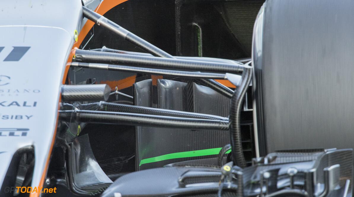 170302RF26288 Barcelona, Spain - 02 March 2017: Sahara Force India F1 Team during Formula 1 Pre-Season Testing 2017 at Circuit de Barcelona-Catalunya, Barcelona, Spain. Formula 1 Pre-Season Testing 2017 Ronald Fleurbaaij Barcelona Spain  Barcelona Spain Formula 1 Pre-Season Testing 2017 Circuit de Barcelona-Catalunya Sports