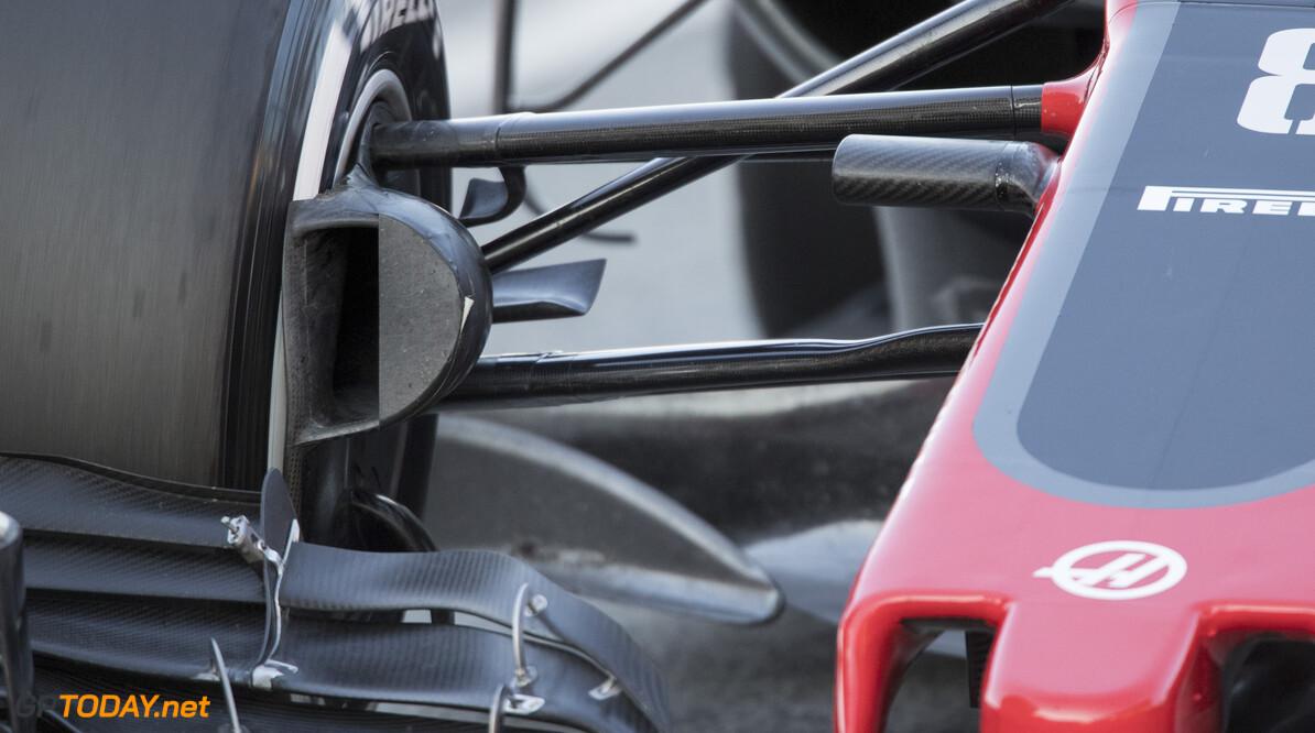 170302RF26382 Barcelona, Spain - 02 March 2017: Haas F1 Team during Formula 1 Pre-Season Testing 2017 at Circuit de Barcelona-Catalunya, Barcelona, Spain. Formula 1 Pre-Season Testing 2017 Ronald Fleurbaaij Barcelona Spain  Barcelona Spain Formula 1 Pre-Season Testing 2017 Circuit de Barcelona-Catalunya Sports