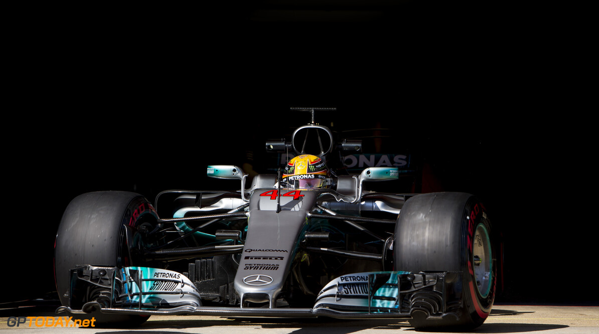 170309RF38021 Barcelona, Spain - 09 March 2017: #44 Lewis Hamilton (GBR), Mercedes AMG Petronas Motorsport, during Formula 1 Pre-Season Testing 2017 at Circuit de Barcelona-Catalunya, Barcelona, Spain. Formula 1 Pre-Season Testing 2017 Ronald Fleurbaaij Barcelona Spain  Barcelona Spain Formula 1 Pre-Season Testing 2017 Circuit de Barcelona-Catalunya Sports