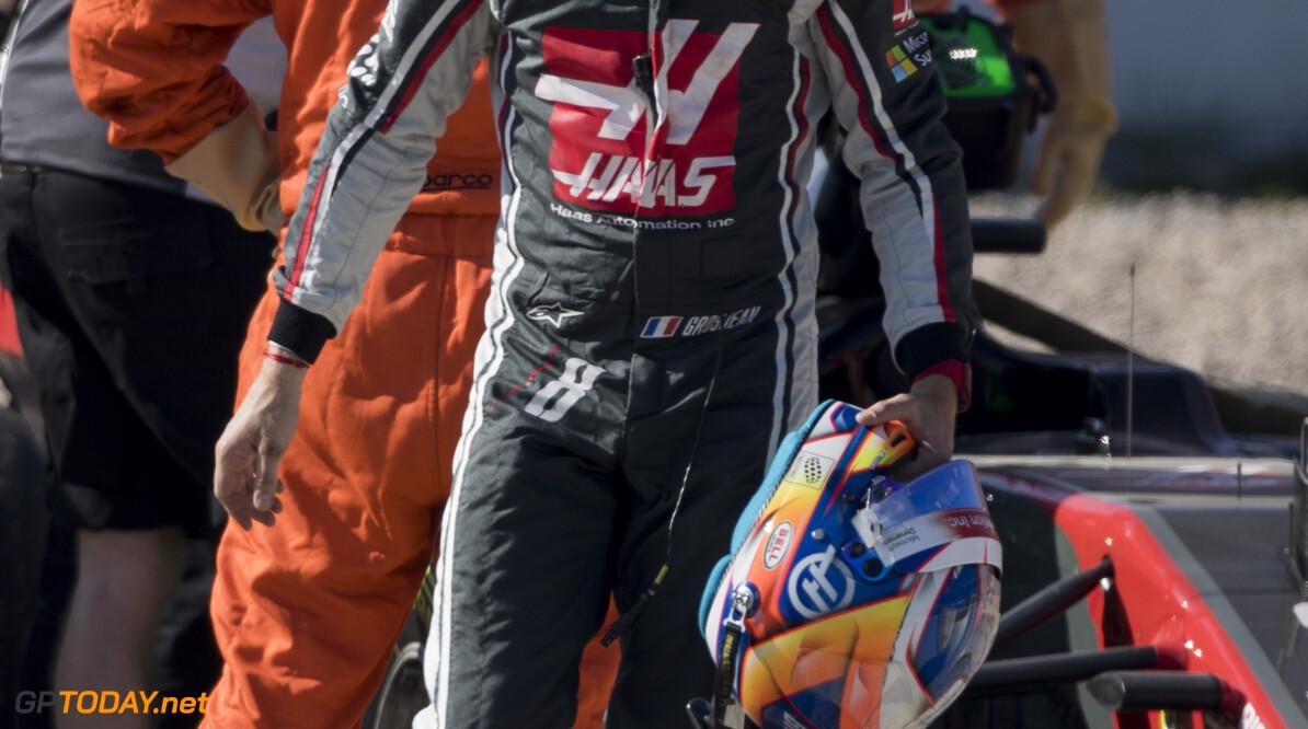 170310RF20060 Barcelona, Spain - 10 March 2017: #8 Romain Grosjean (FRA), Haas F1 Team, during Formula 1 Pre-Season Testing 2017 at Circuit de Barcelona-Catalunya, Barcelona, Spain. Formula 1 Pre-Season Testing 2017 Ronald Fleurbaaij Barcelona Spain  Barcelona Spain Formula 1 Pre-Season Testing 2017 Circuit de Barcelona-Catalunya Sports