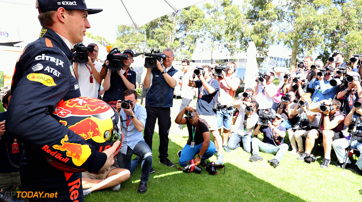 MELBOURNE, AUSTRALIA - MARCH 23:  Max Verstappen of Netherlands and Red Bull Racing poses for a portrait during previews to the Australian Formula One Grand Prix at Albert Park on March 23, 2017 in Melbourne, Australia.  (Photo by Mark Thompson/Getty Images) // Getty Images / Red Bull Content Pool  // P-20170323-00256 // Usage for editorial use only // Please go to www.redbullcontentpool.com for further information. //  Australian F1 Grand Prix - Previews Mark Thompson Melbourne Australia  P-20170323-00256