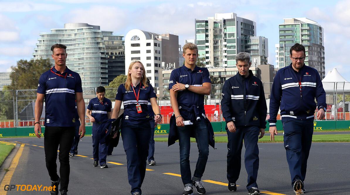 Australian GP Wednesday 22/03/17 Marcus Ericsson (SWE), Sauber F1 Team.  Albert Park Circuit track walk. Australian GP Wednesday 22/03/17 Jad Sherif                       Melbourne Australia  F1 Formula 1 One 2017 Ericsson Sauber