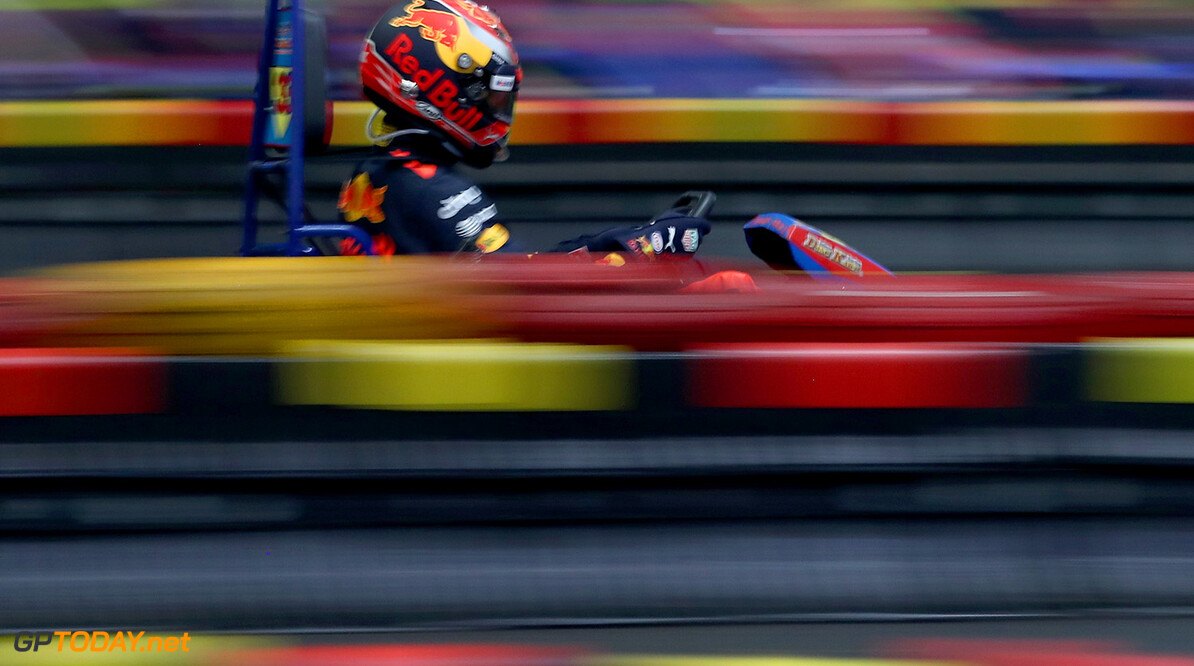 SHANGHAI, CHINA - APRIL 05:  Max Verstappen of the Netherlands and Red Bull Racing attends a karting event during previews to the Formula One Grand Prix of China at Shanghai International Circuit on April 5, 2017 in Shanghai, China.  (Photo by Mark Thompson/Getty Images) // Getty Images / Red Bull Content Pool  // P-20170405-01115 // Usage for editorial use only // Please go to www.redbullcontentpool.com for further information. //  F1 Grand Prix of China - Previews Mark Thompson  China  P-20170405-01115