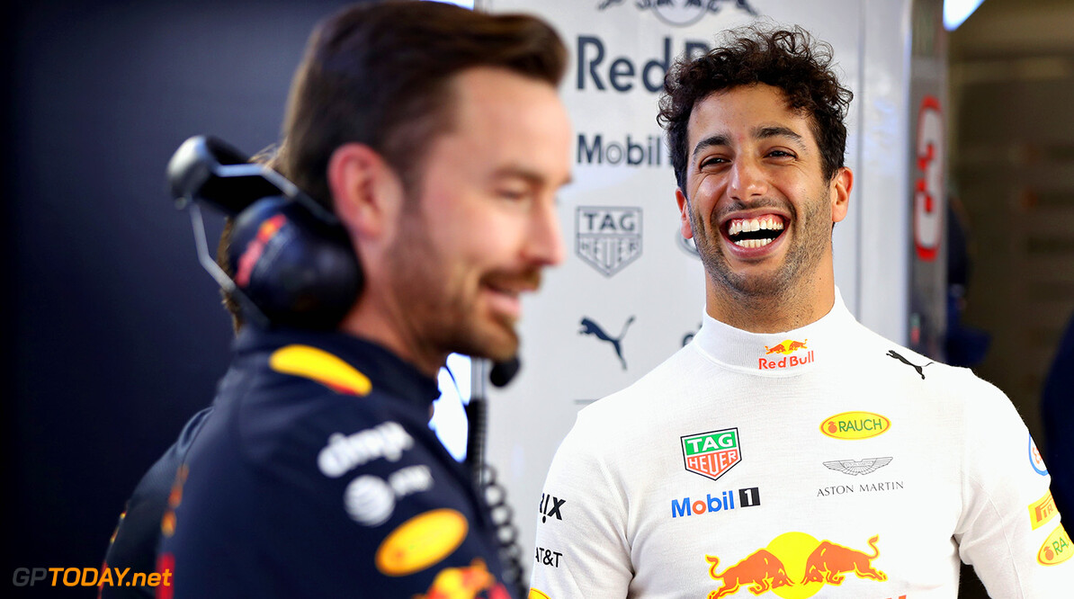 SHANGHAI, CHINA - APRIL 06:  Daniel Ricciardo of Australia and Red Bull Racing in the garage during previews to the Formula One Grand Prix of China at Shanghai International Circuit on April 6, 2017 in Shanghai, China.  (Photo by Mark Thompson/Getty Images) // Getty Images / Red Bull Content Pool  // P-20170406-00448 // Usage for editorial use only // Please go to www.redbullcontentpool.com for further information. //  F1 Grand Prix of China - Previews Mark Thompson  China  P-20170406-00448