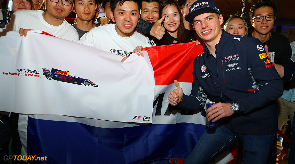 SHANGHAI, CHINA - APRIL 05:  Max Verstappen of the Netherlands and Red Bull Racing attends a karting event during previews to the Formula One Grand Prix of China at Shanghai International Circuit on April 5, 2017 in Shanghai, China.  (Photo by Mark Thompson/Getty Images) // Getty Images / Red Bull Content Pool  // P-20170405-00746 // Usage for editorial use only // Please go to www.redbullcontentpool.com for further information. //  F1 Grand Prix of China - Previews Mark Thompson  China  P-20170405-00746
