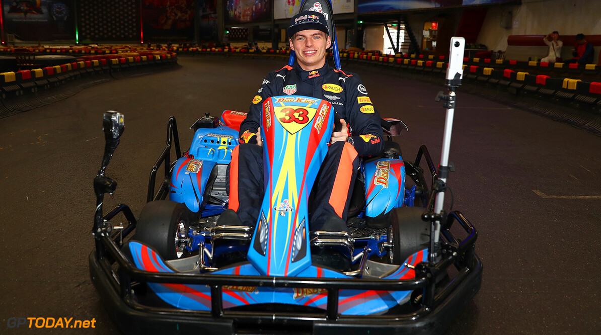 SHANGHAI, CHINA - APRIL 05:  Max Verstappen of the Netherlands and Red Bull Racing attends a karting event during previews to the Formula One Grand Prix of China at Shanghai International Circuit on April 5, 2017 in Shanghai, China.  (Photo by Mark Thompson/Getty Images) // Getty Images / Red Bull Content Pool  // P-20170405-00725 // Usage for editorial use only // Please go to www.redbullcontentpool.com for further information. //  F1 Grand Prix of China - Previews Mark Thompson  China  P-20170405-00725