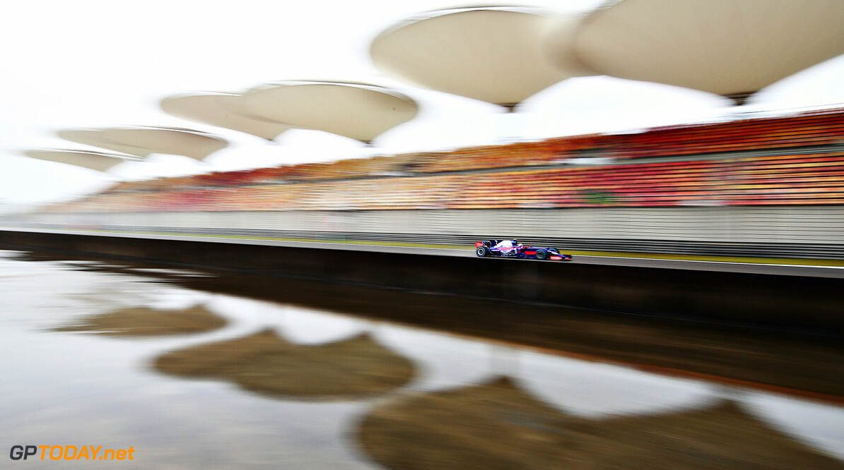 SHANGHAI, CHINA - APRIL 07: Carlos Sainz of Spain driving the (55) Scuderia Toro Rosso STR12 on track during practice for the Formula One Grand Prix of China at Shanghai International Circuit on April 7, 2017 in Shanghai, China.  (Photo by Clive Mason/Getty Images) // Getty Images / Red Bull Content Pool  // P-20170407-00262 // Usage for editorial use only // Please go to www.redbullcontentpool.com for further information. //  F1 Grand Prix of China - Practice Clive Mason  China  P-20170407-00262