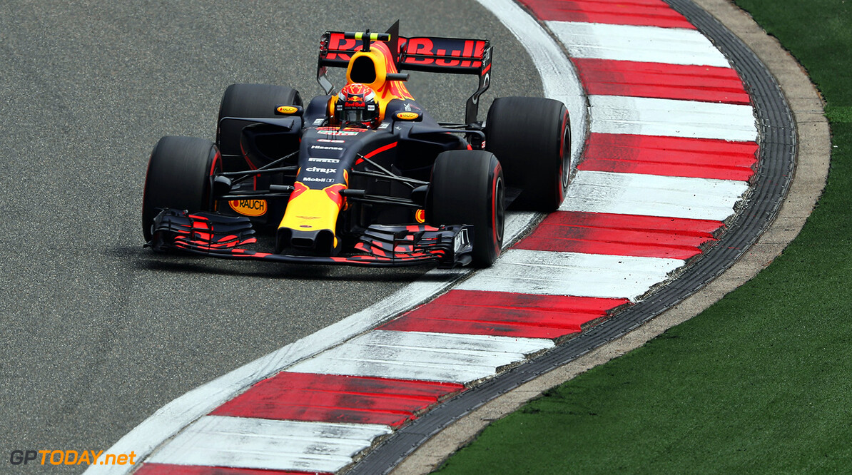 SHANGHAI, CHINA - APRIL 08: Max Verstappen of the Netherlands driving the (33) Red Bull Racing Red Bull-TAG Heuer RB13 TAG Heuer on track during final practice for the Formula One Grand Prix of China at Shanghai International Circuit on April 8, 2017 in Shanghai, China.  (Photo by Mark Thompson/Getty Images) // Getty Images / Red Bull Content Pool  // P-20170408-00292 // Usage for editorial use only // Please go to www.redbullcontentpool.com for further information. //  F1 Grand Prix of China - Qualifying Mark Thompson  China  P-20170408-00292