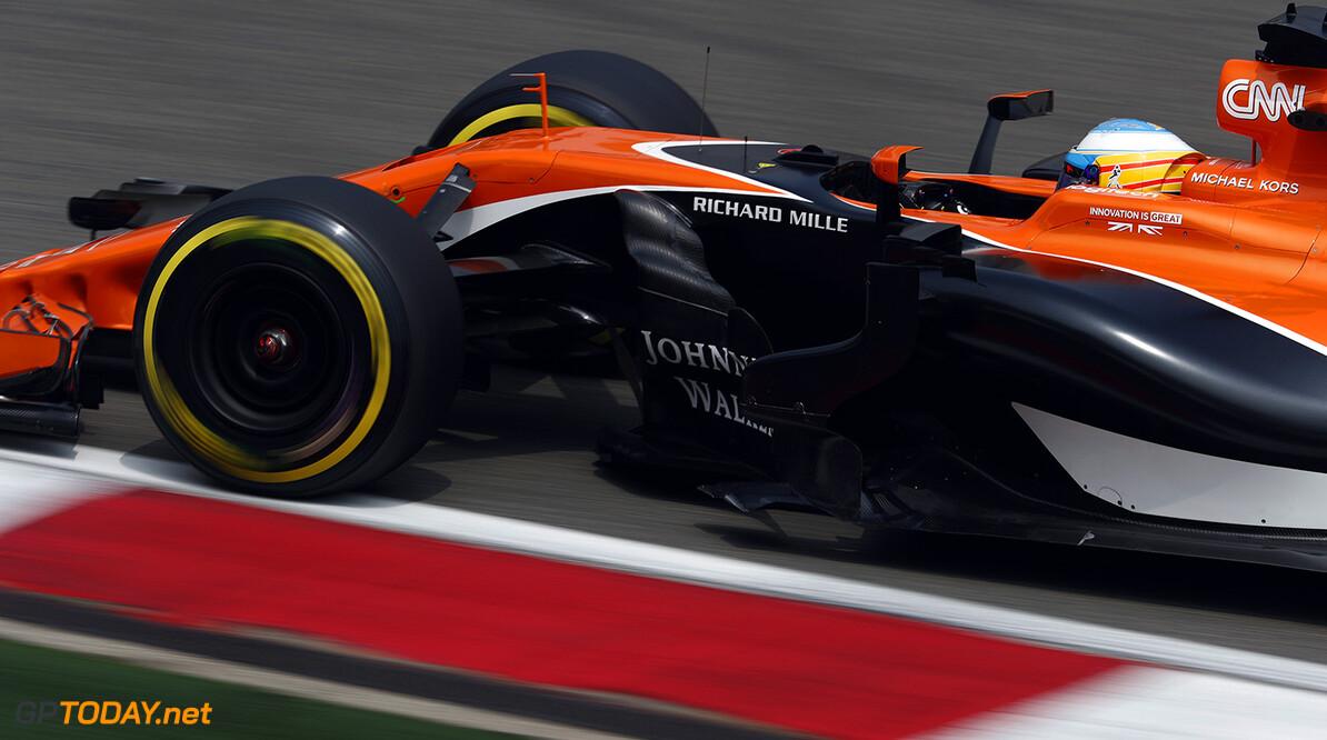 Shanghai International Circuit, Shanghai, China.  Sunday 09 2017.  Fernando Alonso, McLaren MCL32 Honda. World Copyright: Glenn Dunbar/McLaren ref: Digital Image _X4I7417 2017 Chinese Grand Prix Glenn Dunbar    GP Grand Prix F1 Formula Action